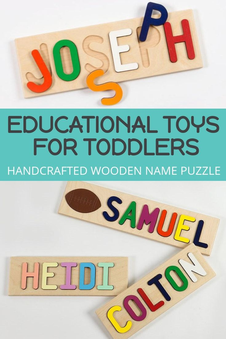 Use code PIN10 to save 10%. A handcrafted wooden puzzle custom-made with your child's name is a great way to teach colors, letters, and fine motor skills in a personal way. Recommended for ages 6 to 30 months. Free shipping in the US every day.