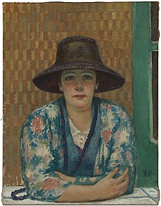 Rupert Bunny  Femme au chapeau brun (Woman in a brown har) 1917  NGA
