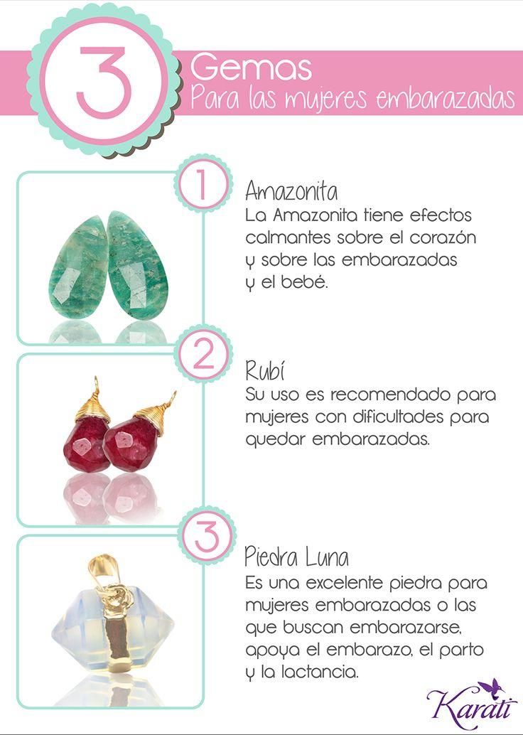 ¿Estás esperando un #bebe o conoces a alguien que lo este?  Comparte con ellas estas 3 gemas que pueden usar como amuleto en esta etapa de su vida.