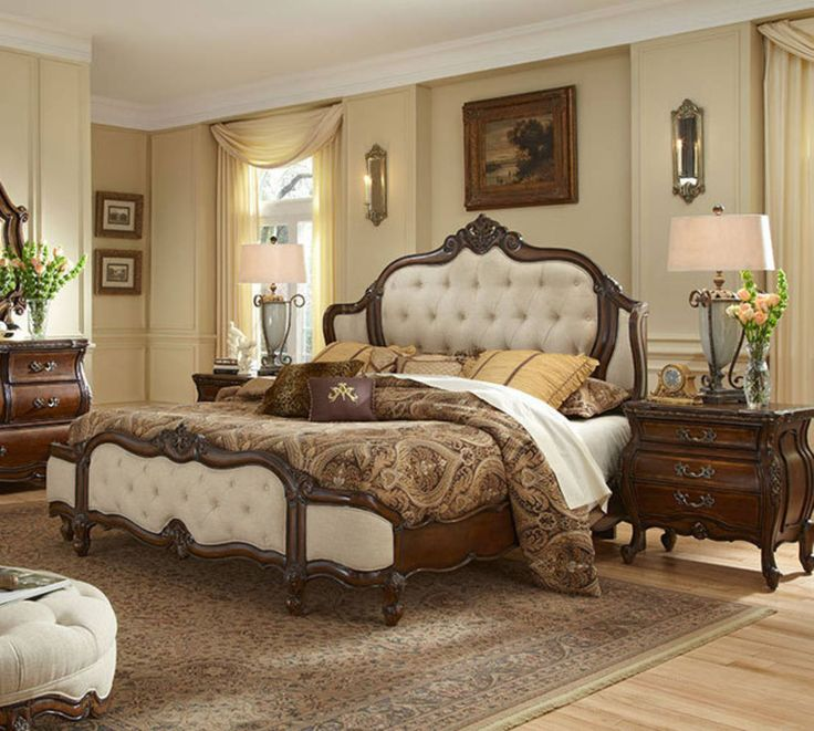 Royz Furniture Lavelle King Wing Mansion Bed Brown