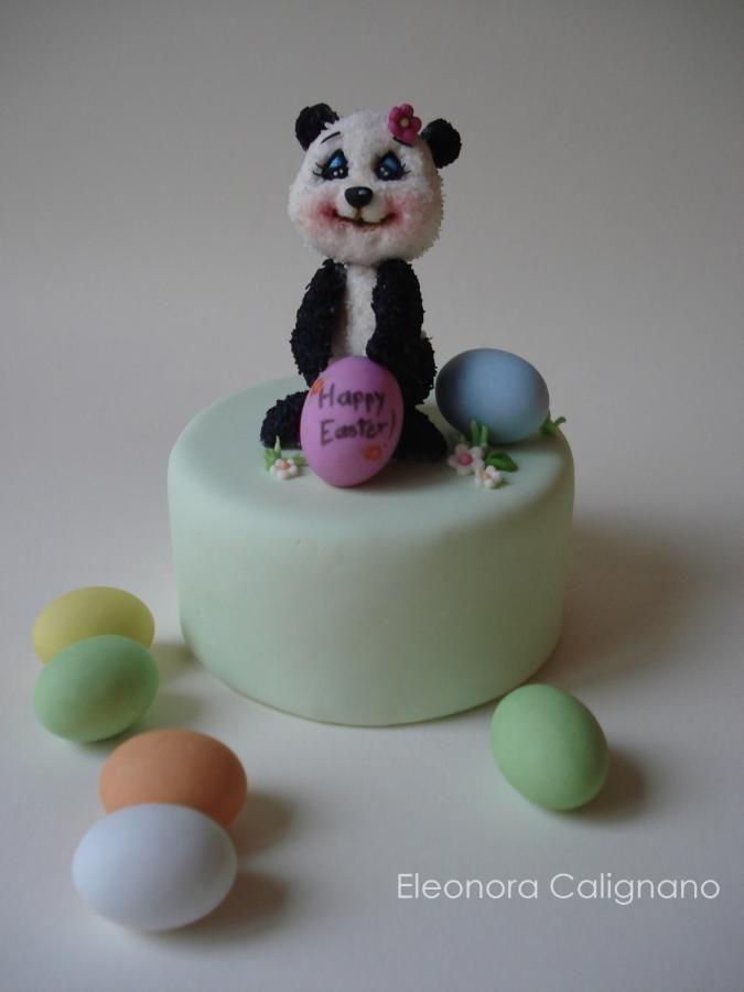 Coconut marshmallows panda bear - Cake by Eleonora Calignano