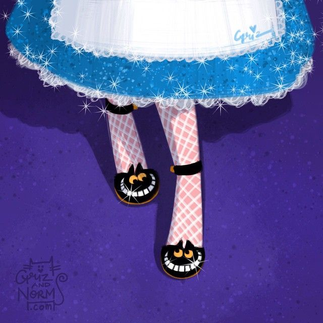 Alice's Chesire cat shoes, inspired by @charlotte_olympia kitty pump