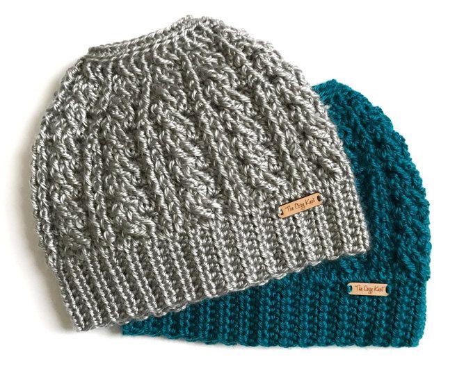 Trina  Cable Messy Bun Beanie    Messy Bun Hat    Pony Tail Hat    Women s  Bun Beanie    Crochet Hat    Top Knot Hat    Top Knot Beanie a75fbcd82c5