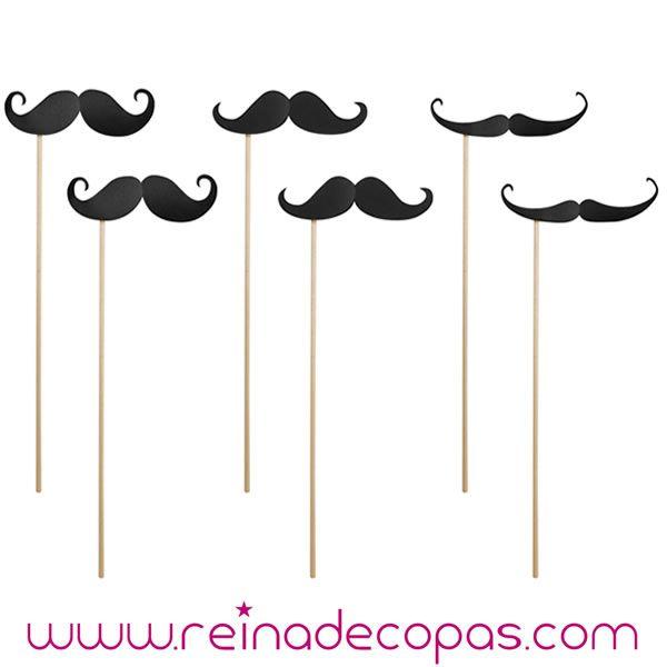 Palitos con bigotes en diversos formatos. Fotos divertidas. Photocall. http://www.reinadecopas.com/es/photocall/360-bigotes-mostachos-photocall.html