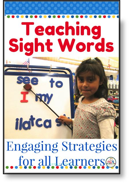 Teaching Sight Words: Do you need strategies for teaching sight words, high frequency words, Dolch or Fry words to kindergarten and first grade students?  I have put together a weeks worth of creative ideas that will help get your students on the right track to learning their sight words in no time at all.