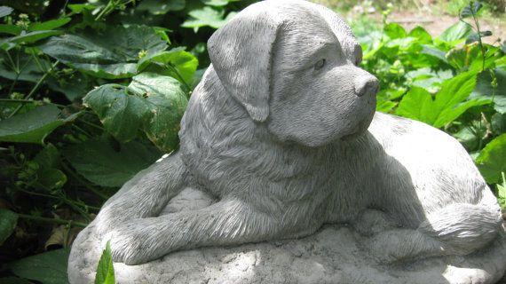 Concrete Saint Bernard Dog Statue Or Monument By