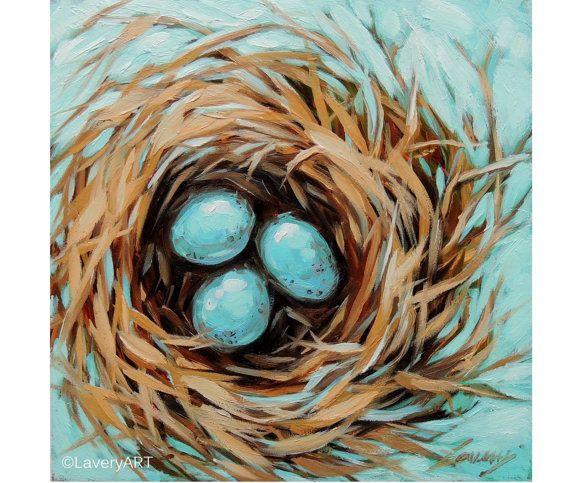 paintings of bird nests   Bird Nest Paintings