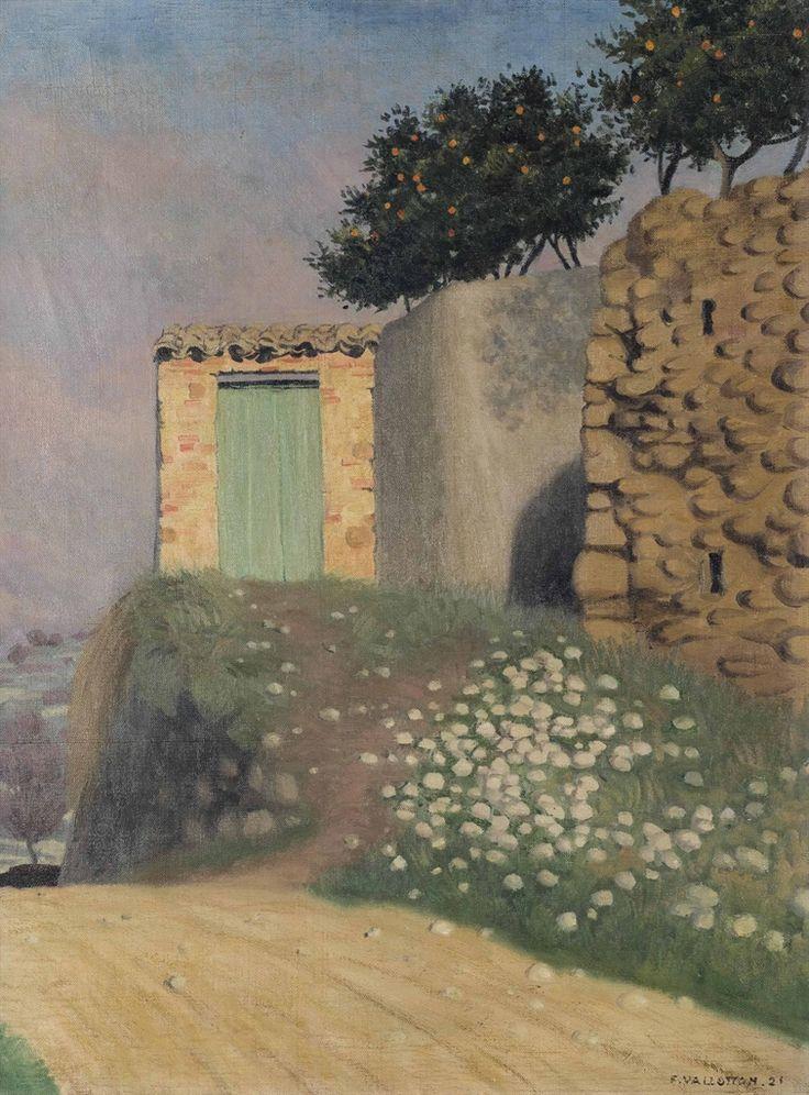 Félix Vallotton (Swiss, 1865-1925), Un chemin à Cagnes [A path in Cagnes], 1922. Oil on canvas, 73 x 54 cm.