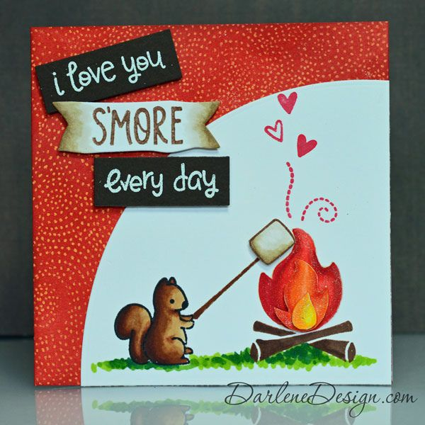 Lawn Fawn - Love You S'More _ beautiful card by Darlene via Flickr - Photo Sharing!