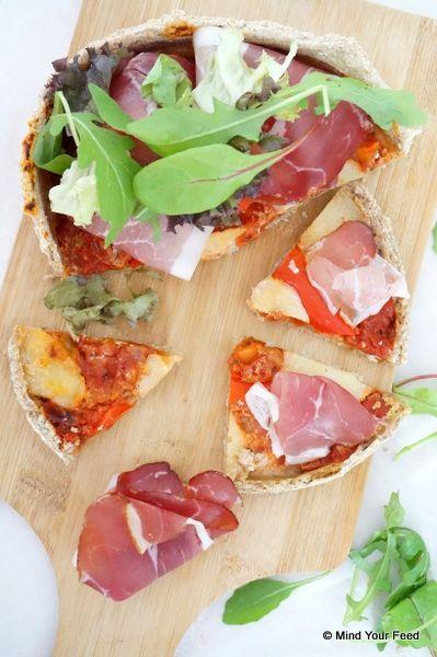 Spelt Havermout pizza.