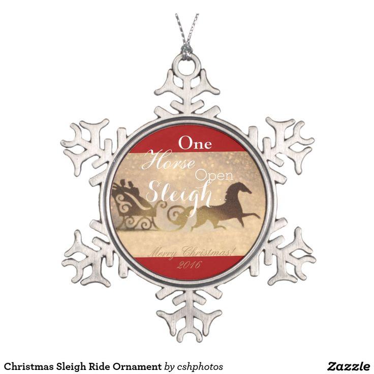Christmas Sleigh Ride Ornament