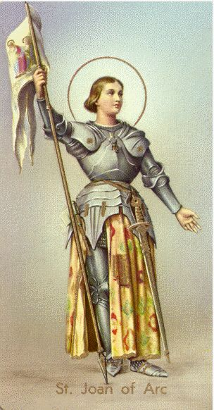 Joan of Arc (1412-1431)  Started hearing angelic voices at 13, lead the Army of France at 17, burned at the stake at 19.  A truly heroic and holy person.