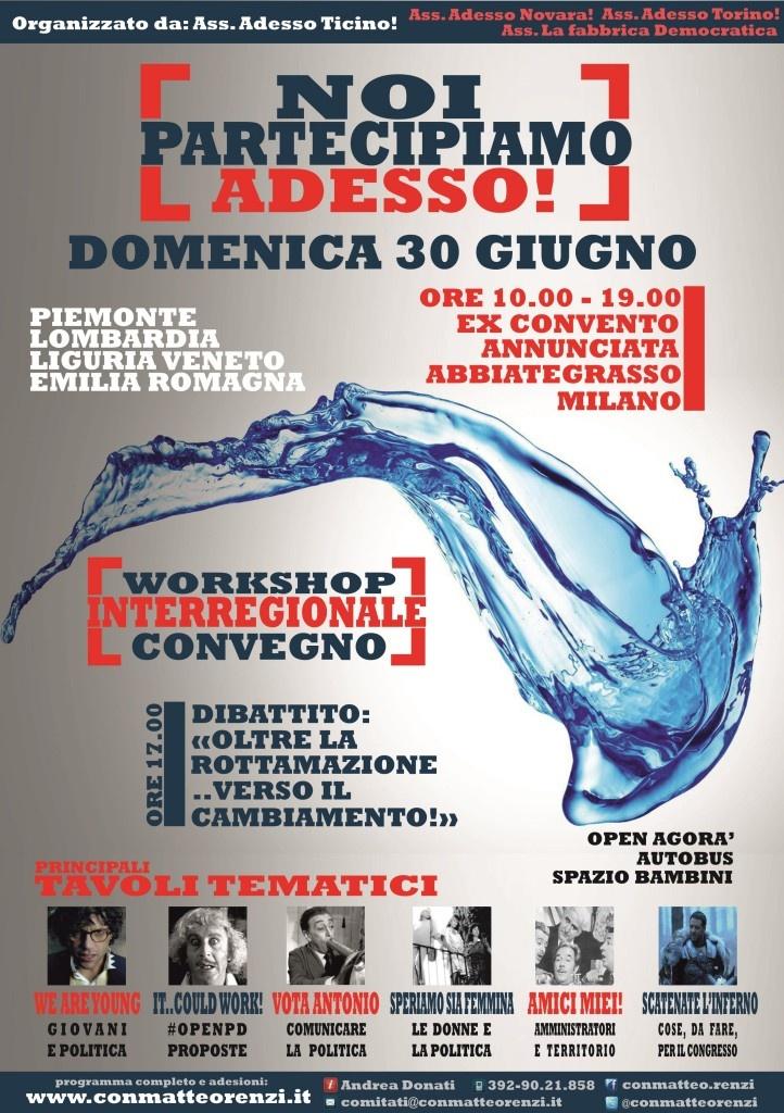 noi partecipiamo adesso - convegno interregionale - 30 giugno 2013
