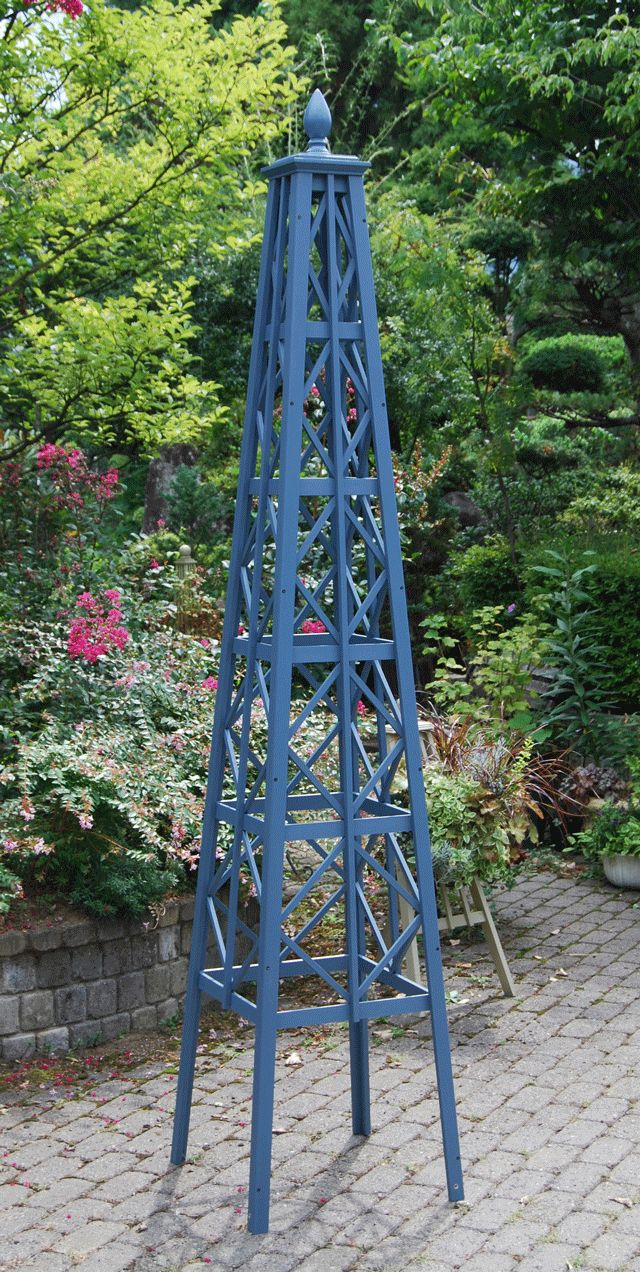 Custom trellis to match pergola landscapes by earth design - Obelisk
