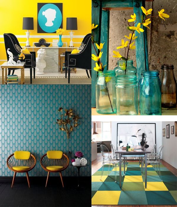 Gray Teal And Yellow Color Scheme Decor Inspiration: 1000+ Images About Color: Teal On Pinterest