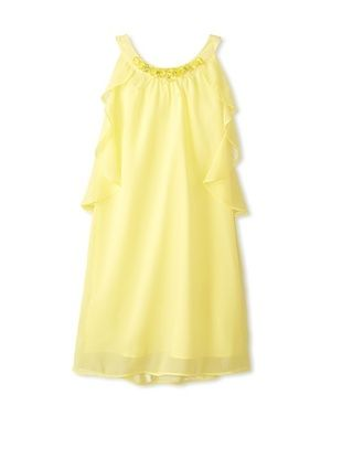 63% OFF Blush by Us Angels Girl's Embellished Ruffle Dress (Yellow)