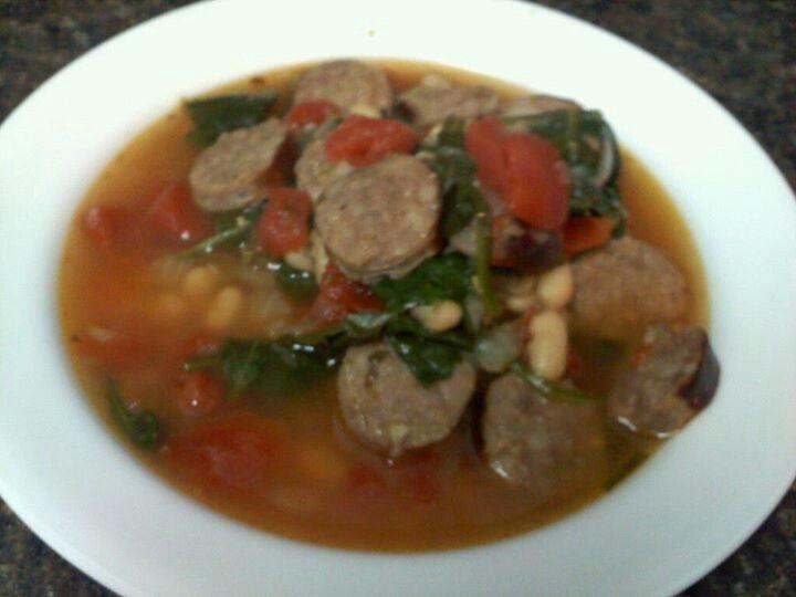 Italian sausage and white bean soup. | Mmmmmmm... | Pinterest
