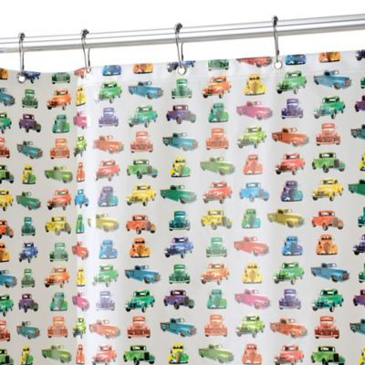 Add A Touch Of Authentic Character To Your Bathroom Décor With The  InterDesign Truck Shower Curtain. Crafted Of Waterproof PEVA, This Easy To Clean  Shower ...