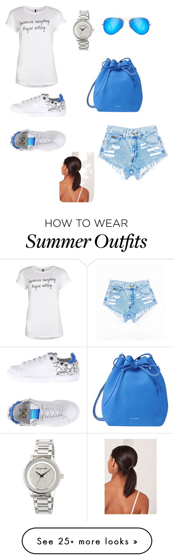 """""""Summer outfit"""" by miss-vs on Polyvore featuring 2Star, Ray-Ban, MICHAEL Michael Kors, Mansur Gavriel and Missguided"""