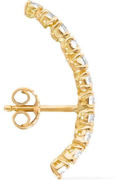 Yvonne Léon - 18-karat Gold Diamond Earring - one size