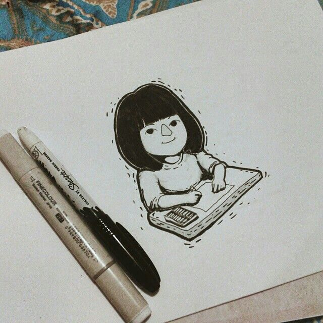 Little @echafizha's illustration