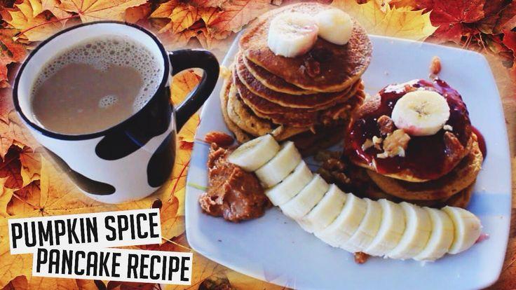 Easy And Healthy PUMPKIN SPICE PANCAKES! (vegan)