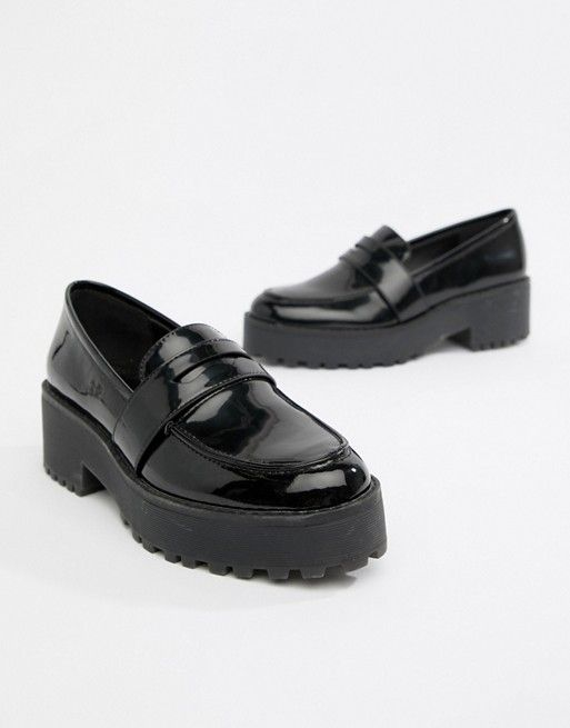 a223a0bb9529c7 Monki chunky loafer in Black