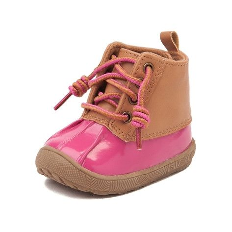 Shield her style from inclement weather with the adorable new Duck Boot from Natural Steps! These little Duck Boots feature a synthetic leather shaft with waterproof rubber vamp, and easy hook-and-loop strap fastened heel for hassle-free slip-on and off. <b>Only available at Journeys Kidz!</b>  <br><br><u>Features include</u>:<br> > Synthetic leather shaft with waterproof rubber shell<br> > Soft textile lining for comfort<br> > Lace closure for a secure fit<br> > Adjustable hook-and-loop…