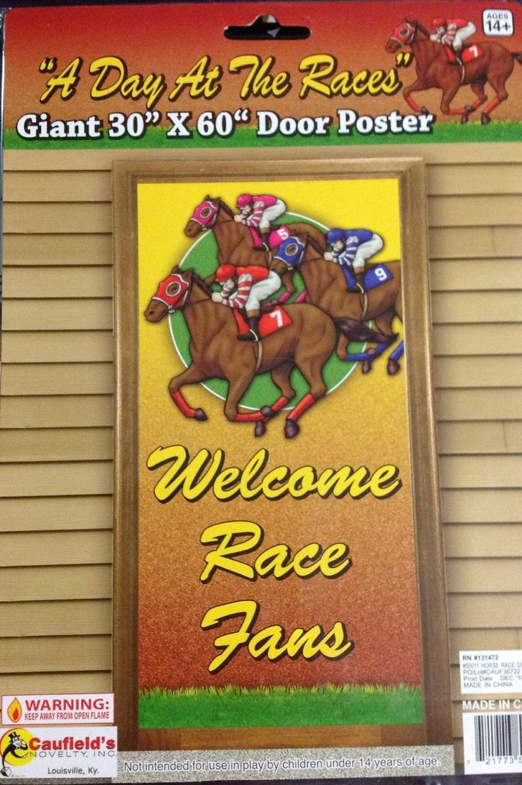 I'm selling Melbourne Cup / Hens / Bucks A Day At The Races Door Banner 'Welcome Race Fans - A$10.50