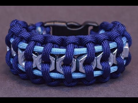 """▶ How to Make the """"Hex Nut"""" Paracord Survival Bracelet - BoredParacord - YouTube"""