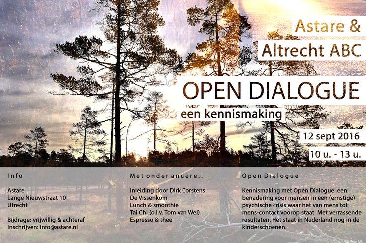 Samen met Altrecht ABC presenteren wij: Open Dialogue; een kennismaking.