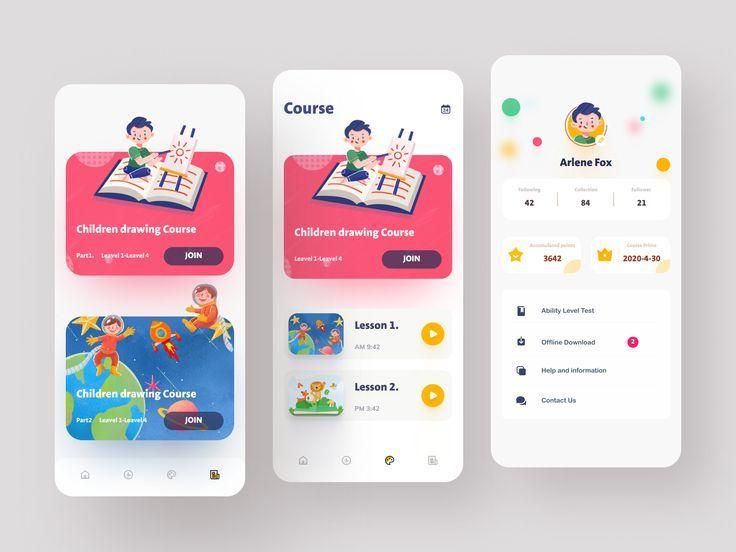 App Inspiration And Website Design Inspiration 19 Pinterest Favorites Master Design Blog In 2020 Kids App Design App Design Educational Apps For Kids