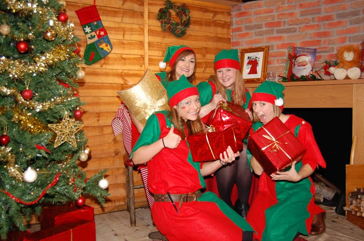 The elves were super excited to exchange their presents last year! http://www.therainforestcafe.co.uk/christmas.asp