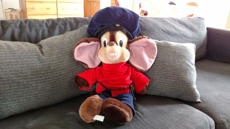 Giant Extra Large XL Plush Fievel Mousekewitz from the 1986 Amblin Entertainment Animated Movie An American Tale Stuffed Toy by awesome80s on Etsy