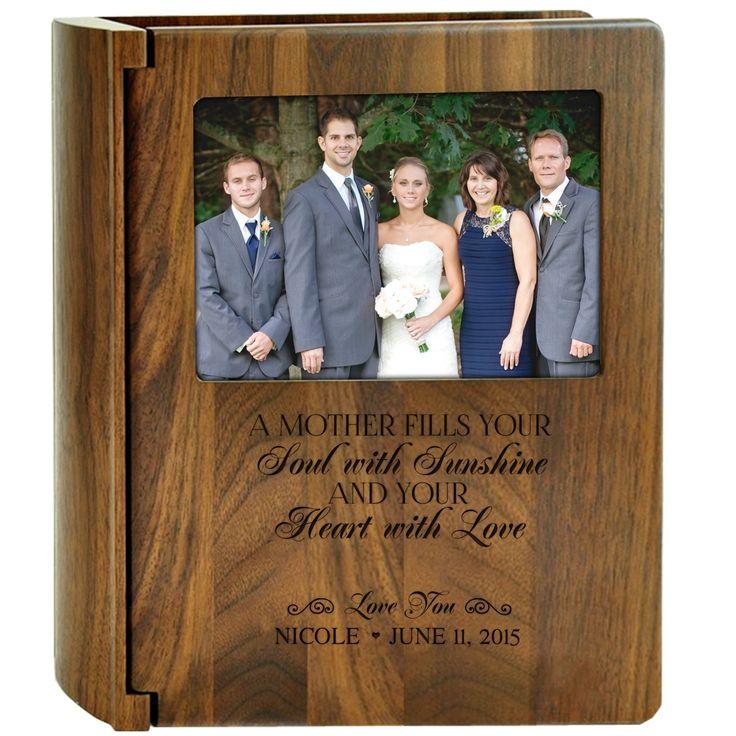 Amazon.com: Personalized Wedding Photo Album Parent wedding gifts Holds 200 4x6 Photo Made of Walnut By Dayspring Milestones: Home & Kitchen