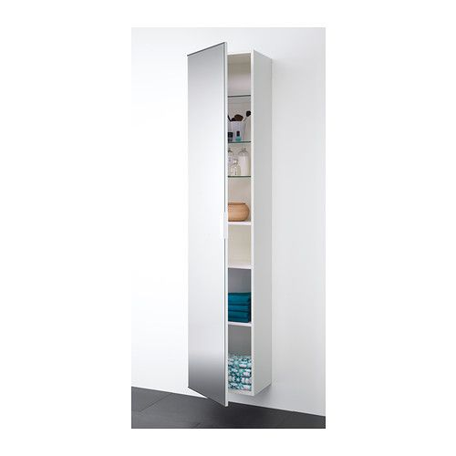 Godmorgon high cabinet with mirror door walnut effect cabinets glass shelves and armoires - Godmorgon ikea mobile alto ...