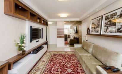 tapete para sala de TV modelo persa