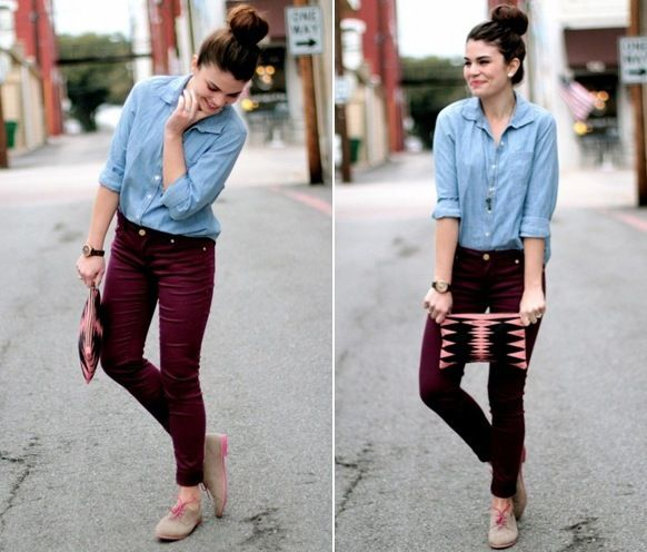 Model Rocking Maroon Pants  Women39s Outfit  ASOS Fashion Finder