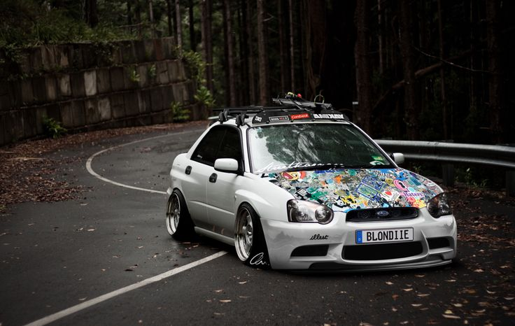 Subaru Wrx Sti Slammed Stance Stanced Pinterest