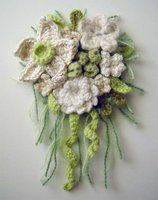 deviantART: More Like crochet heart cashmere corsage by ~meekssandygirl