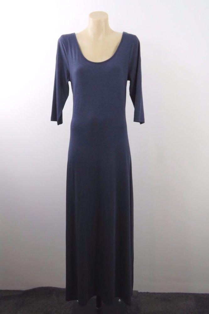 Size XL 16 Ladies Blue Maxi Dress Stretch Casual Boho Chic Long Gypsy Hip Design #DressMeUpFactorie #Maxi #SummerBeach