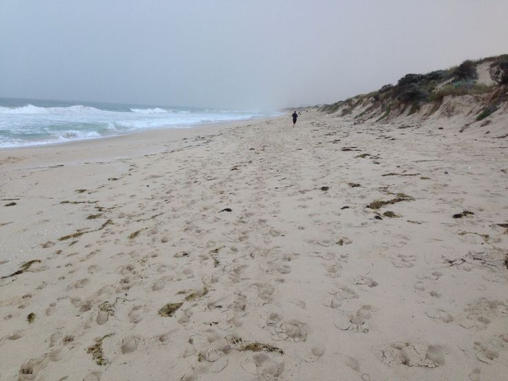 Cold May Day at Floreat beach Western Australia