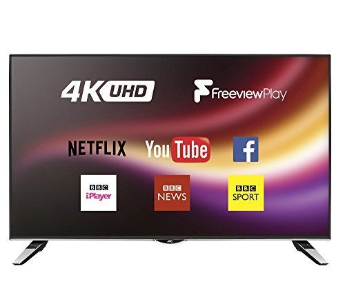 JVC 40 inch 4k Ultra HD (Resolution: 3840 x 2160) Smart LED TV with Freeview Play and Built-in WiFi - Black