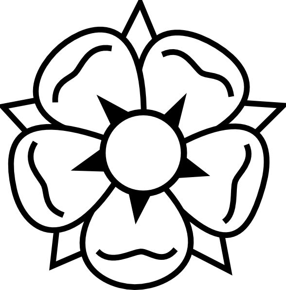 Flower Coloring Pages | Flower tattoo clip art