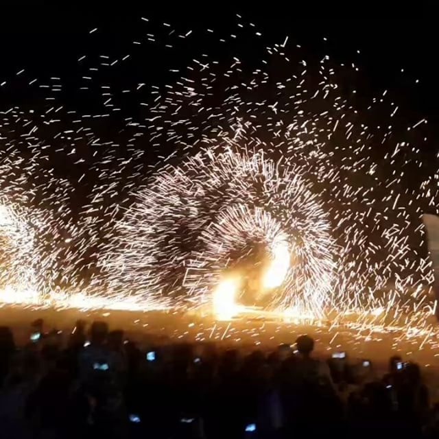 These are spectacular! A group of strong men spin sparkly big fire on Saikeaw beach, Samed island. It's a finale show of Ploytalay restaurant spin fire. .. . #spinfire #sparklyfire #manmadefireworks #samedisland #rayong #thailand #samedtrip #worklife #travellife #trip #travel #beachatnight #fireshow  #spectacular #罗勇府 #沙美岛manmadefireworks,rayong,samedtrip,spinfire,travellife,沙美岛,spectacular,thailand,travel,samedisland,fireshow,sparklyfire,trip,beachatnight,罗勇府,worklife
