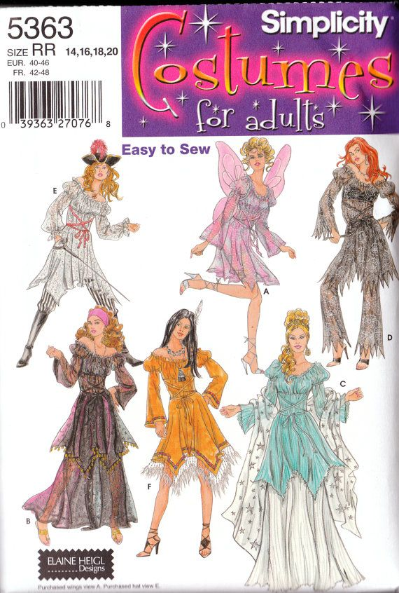 Simplicity 5363 Costume Sewing Pattern Adult Sexy by 540Mercantile, $7.95 petal hem
