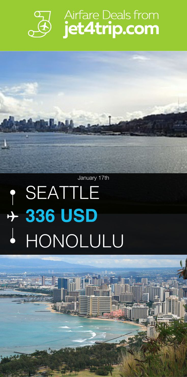 Flight from Seattle to Honolulu for $336 by United Airlines #travel #ticket #deals #flight #SEA #HNL #Seattle #Honolulu #UA #United Airlines