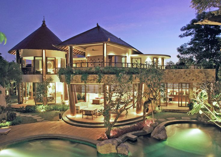 Striking tropical villa nestled in tranquil gardens
