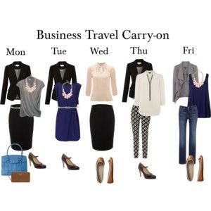 Business Travel Carry-on Working Week Outfits