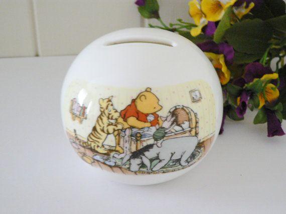 Royal Doulton Winnie the Pooh globe money by MaddyVintageHostess, £15.00